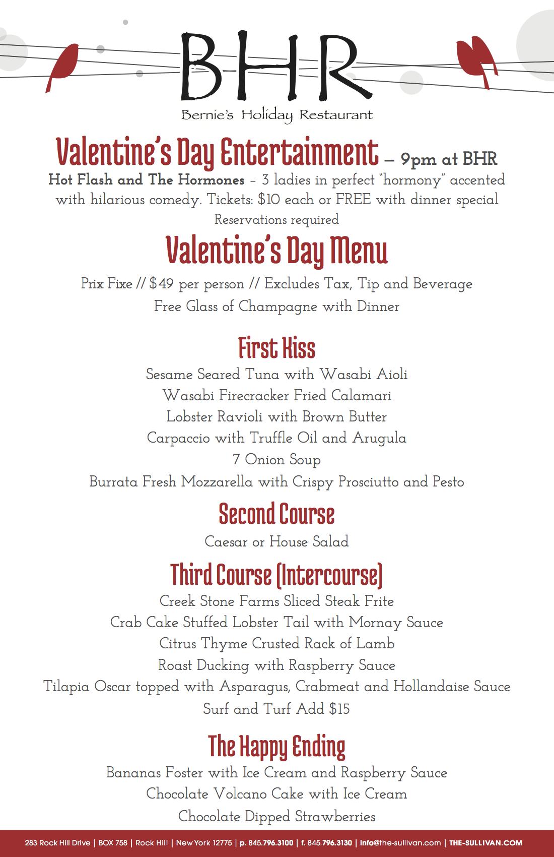 BHR-2014-Valentine's Day Menu